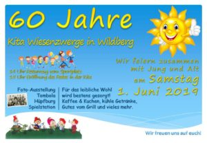 Flyer 60 Jahre Kita Wiesenzwerge in Wildberg