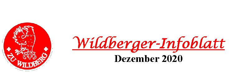 Wildberger Infoblatt Dezember 2020 Logo