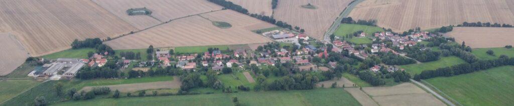 Luftbild Kerzlin Gemeinde Temnitztal 2021