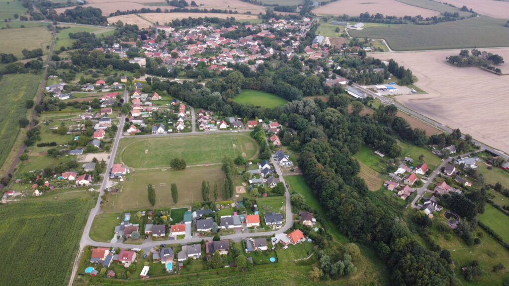 Luftbild Wildberg Gemeinde Temnitztal 2021